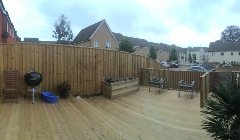 finished decking and fence in exeter